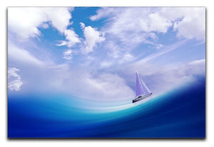 The Blue Sea Canvas Print or Poster  - Canvas Art Rocks - 1