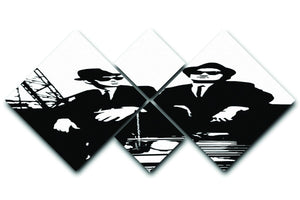 The Blues Brothers Car 4 Square Multi Panel Canvas  - Canvas Art Rocks - 1