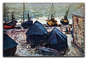 The Boats by Monet Canvas Print & Poster  - Canvas Art Rocks - 1