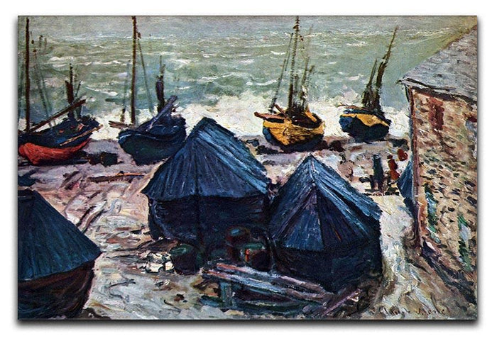 The Boats by Monet Canvas Print or Poster