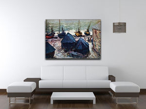 The Boats by Monet Canvas Print & Poster - Canvas Art Rocks - 4