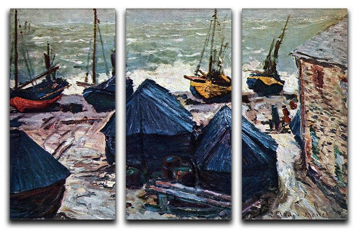 The Boats by Monet Split Panel Canvas Print