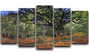 The Bodmer oak Fontainbleau forest by Monet 5 Split Panel Canvas  - Canvas Art Rocks - 1