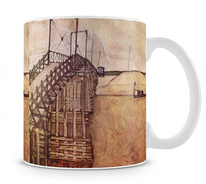 The Bridge by Egon Schiele Mug - Canvas Art Rocks - 1
