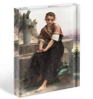 The Broken Pitcher By Bouguereau Acrylic Block - Canvas Art Rocks - 1