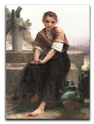 The Broken Pitcher By Bouguereau Canvas Print or Poster  - Canvas Art Rocks - 1