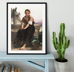 The Broken Pitcher By Bouguereau Framed Print - Canvas Art Rocks - 1