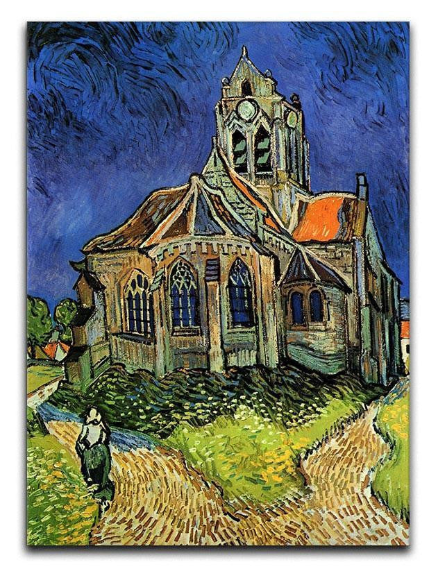 The Church at Auvers by Van Gogh Canvas Print & Poster  - Canvas Art Rocks - 1