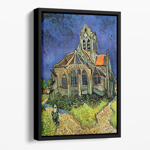 The Church at Auvers by Van Gogh Floating Framed Canvas