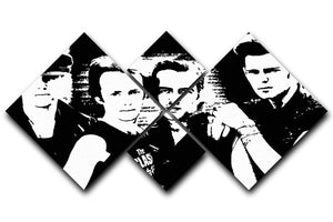 The Clash 4 Square Multi Panel Canvas  - Canvas Art Rocks - 1