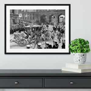 The Coronation of King George VI Kings coach Framed Print - Canvas Art Rocks - 1