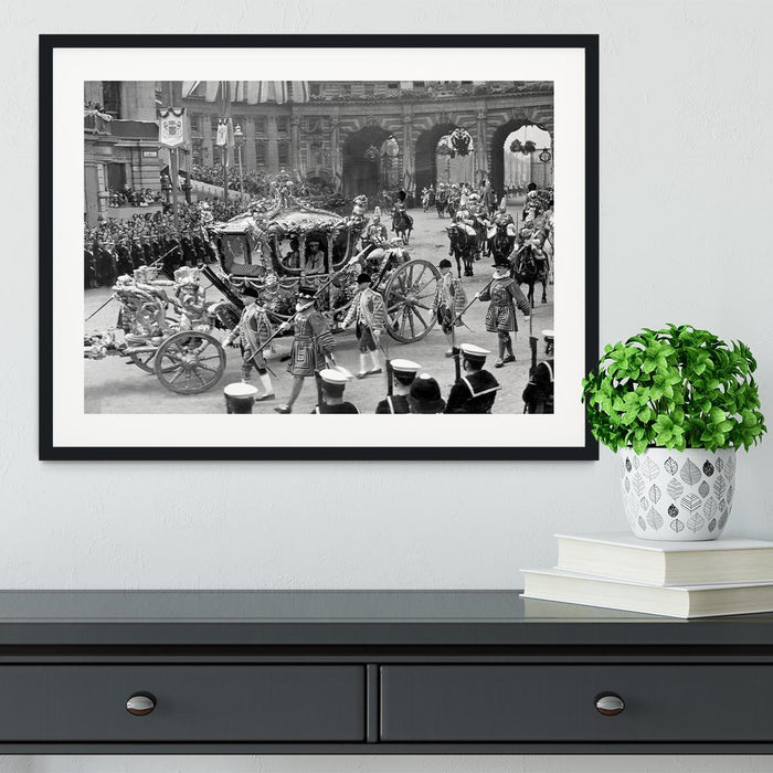 The Coronation of King George VI Kings coach Framed Print