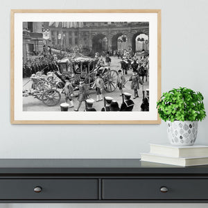 The Coronation of King George VI Kings coach Framed Print - Canvas Art Rocks - 3
