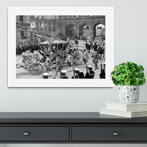 The Coronation of King George VI Kings coach Framed Print - Canvas Art Rocks - 5