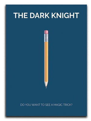 The Dark Knight Minimal Movie Canvas Print or Poster  - Canvas Art Rocks - 1