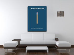The Dark Knight Minimal Movie Canvas Print or Poster - Canvas Art Rocks - 4