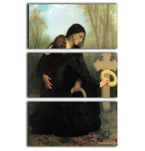 The Day of the Dead By Bouguereau 3 Split Panel Canvas Print - Canvas Art Rocks - 1