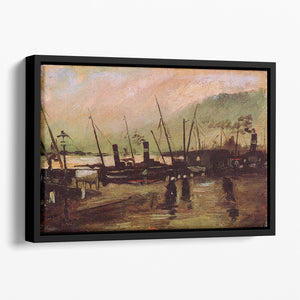 The De Ruijterkade in Amsterdam by Van Gogh Floating Framed Canvas
