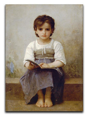 The Difficult Lesson By Bouguereau Canvas Print or Poster  - Canvas Art Rocks - 1