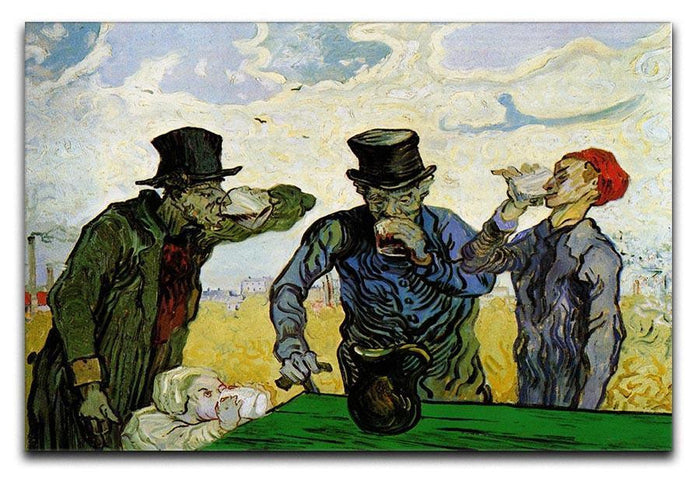 The Drinkers by Van Gogh Canvas Print or Poster