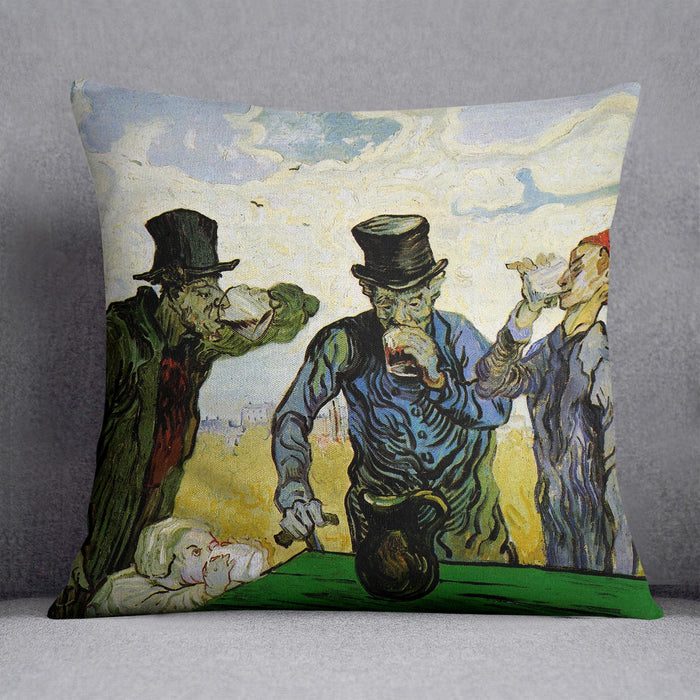 The Drinkers by Van Gogh Throw Pillow