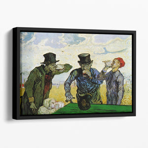 The Drinkers by Van Gogh Floating Framed Canvas