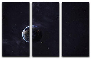 The Earth from space showing all they beauty 3 Split Panel Canvas Print - Canvas Art Rocks - 1