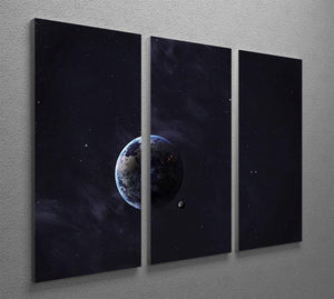 The Earth from space showing all they beauty 3 Split Panel Canvas Print - Canvas Art Rocks - 2