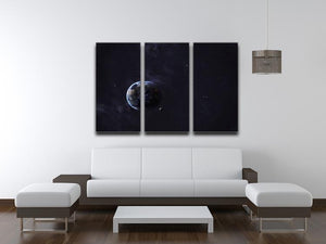 The Earth from space showing all they beauty 3 Split Panel Canvas Print - Canvas Art Rocks - 3