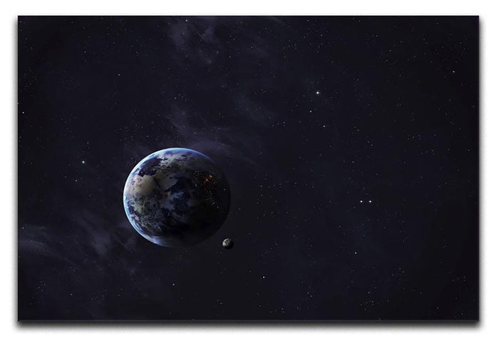 The Earth from space showing all they beauty Canvas Print or Poster