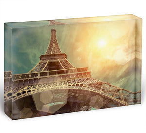 The Eiffel tower under sun light Acrylic Block - Canvas Art Rocks - 1