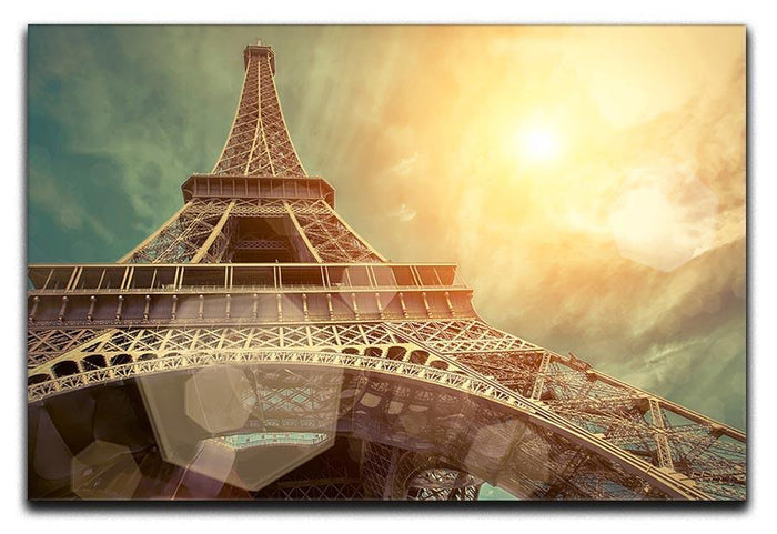 The Eiffel tower under sun light Canvas Print or Poster