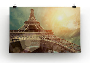 The Eiffel tower under sun light Canvas Print or Poster - Canvas Art Rocks - 2