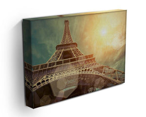 The Eiffel tower under sun light Canvas Print or Poster - Canvas Art Rocks - 3