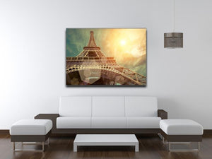 The Eiffel tower under sun light Canvas Print or Poster - Canvas Art Rocks - 4