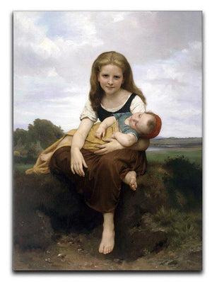 The Elder Sister By Bouguereau Canvas Print or Poster  - Canvas Art Rocks - 1