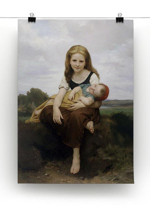 The Elder Sister By Bouguereau Canvas Print or Poster - Canvas Art Rocks - 2