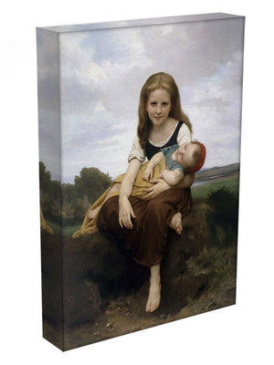 The Elder Sister By Bouguereau Canvas Print or Poster - Canvas Art Rocks - 3