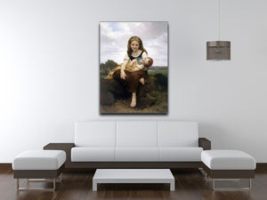 The Elder Sister By Bouguereau Canvas Print or Poster - Canvas Art Rocks - 4