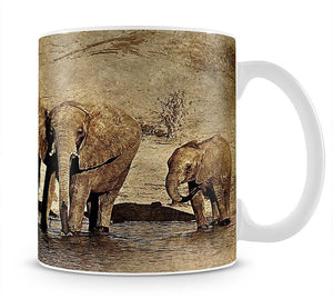 The Elephants March Version 2 Mug - Canvas Art Rocks - 1