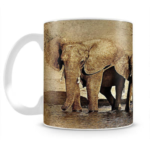 The Elephants March Version 2 Mug - Canvas Art Rocks - 2