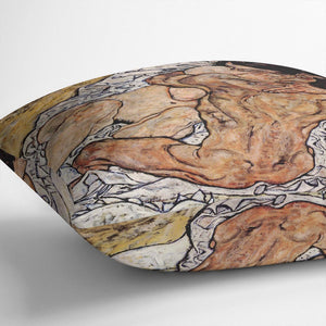The Embrace by Egon Schiele Cushion