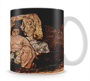 The Family by Egon Schiele Mug - Canvas Art Rocks - 1