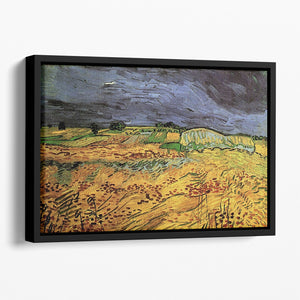 The Fields by Van Gogh Floating Framed Canvas
