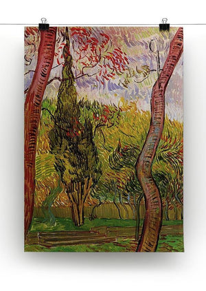 The Garden of Saint-Paul Hospital 2 by Van Gogh Canvas Print & Poster - Canvas Art Rocks - 2