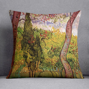 The Garden of Saint-Paul Hospital 2 by Van Gogh Throw Pillow
