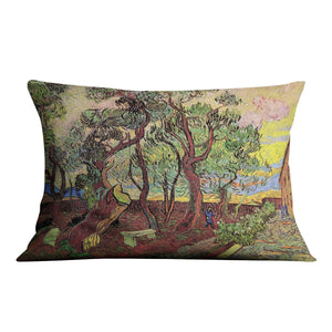 The Garden of Saint-Paul Hospital 3 by Van Gogh Throw Pillow