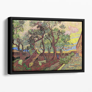 The Garden of Saint-Paul Hospital 3 by Van Gogh Floating Framed Canvas