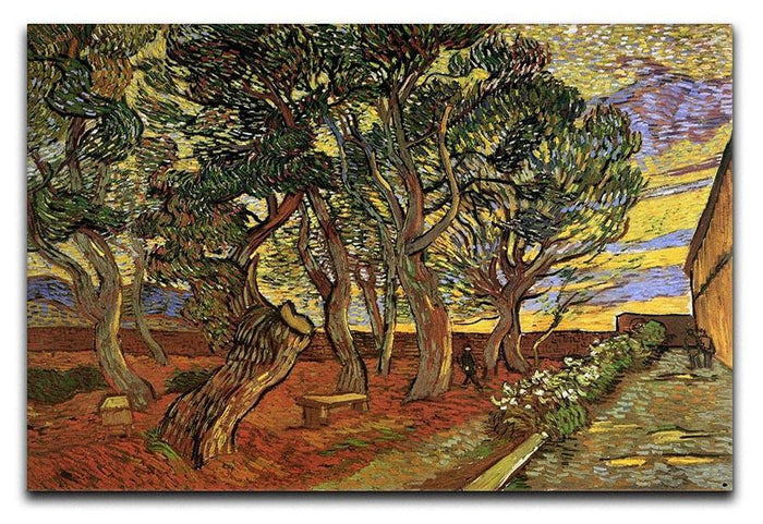 The Garden of Saint-Paul Hospital 4 by Van Gogh Canvas Print or Poster