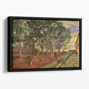 The Garden of Saint-Paul Hospital 4 by Van Gogh Floating Framed Canvas